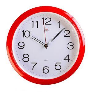 """Часы настенные круглые """"Классика"""", Рубин, красный обод, 29х29 см   1271703"""