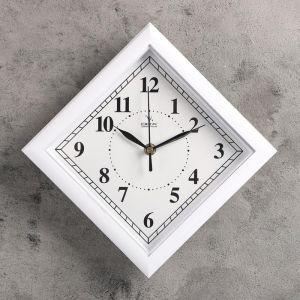 """Часы настенные ромб """"Абсолют"""", белые"""