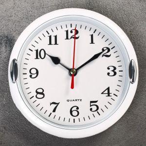 """Часы настенные, серия: Классика, """"Джессика"""", белые, d=15 см 831333"""