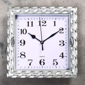 """Часы настенные, серия: Классика, """"Жаклин"""", цвет серебро  21х21 см 2457676"""