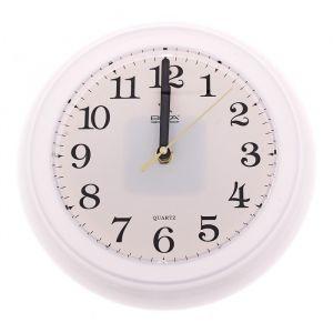 """Часы настенные круглые """"Тайминг"""", d=22,5 см, белые"""