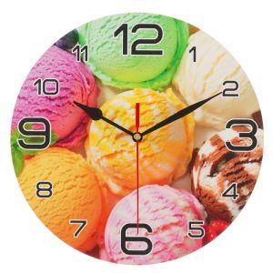 """Часы настенные круглые """"Мороженое радуга"""", 24 см  микс 3571438"""