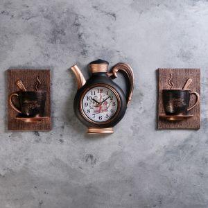 """Часы настенные, серия: Кухня, """"Сангино"""", черная медь, 26.5х24 см 4551492"""