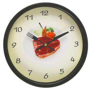 """Часы настенные, серия: Кухня, """"Стейк"""", d=23 см 3043456"""