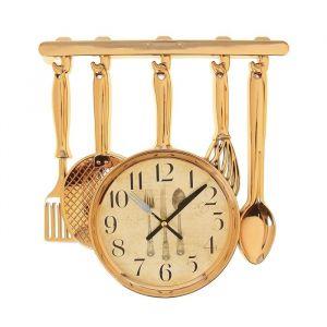 """Часы настенные, серия: Кухня, """"Столовые приборы"""" 30х33 см, плавный ход  1031072"""