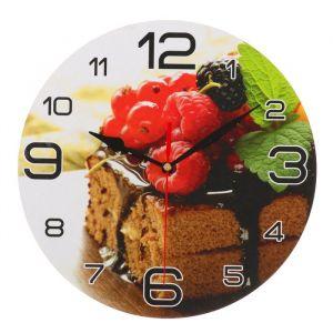 """Часы настенные, серия: Кухня, """"Торт с малиной"""", 24 см 3571413"""