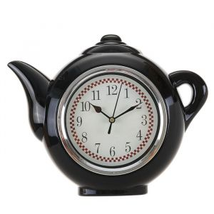 """Часы настенные, серия: Кухня, """"Чайник"""", черный, 30х23 см 2306960"""