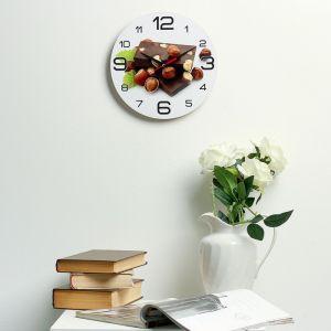 """Часы настенные, серия: Кухня, """"Шоколад с лесным орехом"""", 24  см, микс 3571430"""
