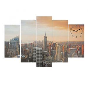 Часы настенные модульные «Урбанистический пейзаж», 80 ? 140 см