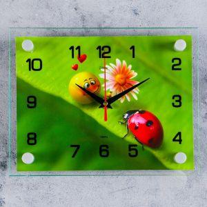 """Часы настенные, серия: Животный мир, """"Божья коровка"""", 20х26 см 2267867"""