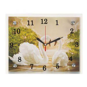 """Часы настенные, серия: Животный мир, """"Лебеди"""", 20х25  см, микс 1639442"""