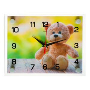 """Часы настенные, серия: Животный мир, """"Мишка"""", 20х26 см  микс 3979108"""