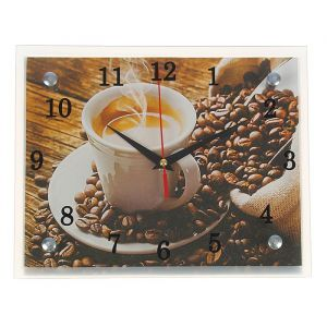 """Часы настенные, серия: Кухня, """"Чашка кофе"""", 20х25  см, микс 1251844"""