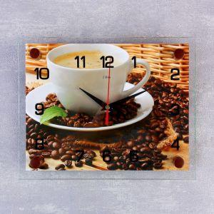 """Часы настенные, серия: Кухня, """"Чашка кофе"""", 20х26  см, микс 888071"""