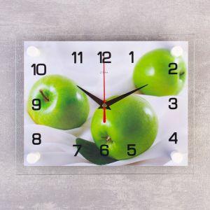 """Часы настенные, серия: Кухня, """"Яблоки"""", 20х26 см микс 2267897"""