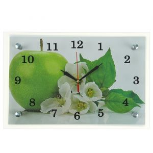 """Часы настенные, серия: Кухня, """"Яблоко"""", 20х30  см, микс 1639499"""