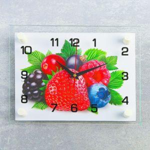 "Часы настенные, серия: Кухня, ""Ягоды"", 20х26  см, микс 1103808"