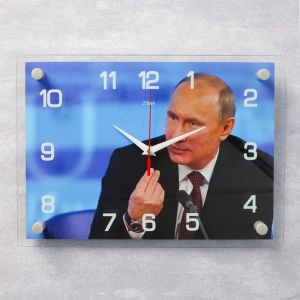"""Часы настенные, серия: Люди, """"В.В. Путин"""", 25х35  см, микс 2267947"""