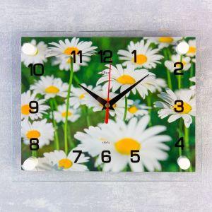 """Часы настенные, серия: Цветы, """"Ромашки"""", 20х26  см, микс 1061697"""