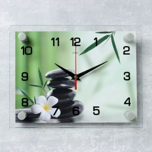 "Часы настенные, серия: Цветы, ""Цветок"", 20х26 см  микс 2267871"