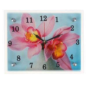 "Часы настенные, серия: Цветы, ""Цветы в вазе"", 20х25  см, микс 1639445"