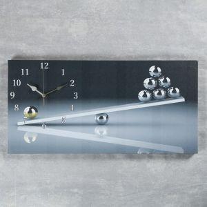 """Часы настенные, серия: Интерьер, на холсте """"Весы"""", 40х76  см, микс 2045186"""
