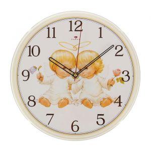 "Часы настенные ""Ангелочки"", ""Рубин"", 25х25 см 2566697"