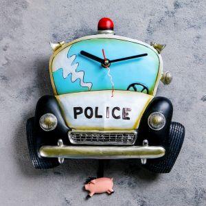 """Часы настенные, серия: Детские,  """"Полицейская машина"""", 26х34 см 760878"""
