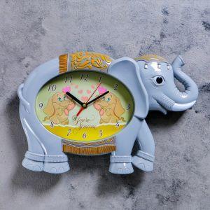 """Часы настенные, серия: Детские,  """"Серый слоник"""", 36х24 см 2761124"""