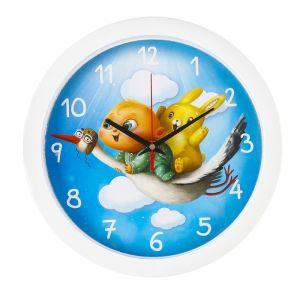 """Часы настенные, серия: Животный мир, """"Приключение"""", белый обод, 28х28 см микс 2436379"""