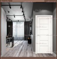 Межкомнатная дверь NEXT 1 Эмалит белый, стекло - ЛАКОБЕЛЬ Белое :
