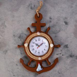 """Часы настенные, серия: Море, """"Баллер"""", d=11 см   4416233"""