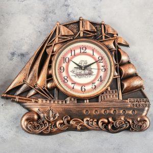 """Часы настенные, серия: Море, """"Галеон"""", 55х44 см   4469768"""
