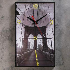 """Часы настенные, серия: Город, """"Мост в небеса"""", 37х61 см 4464632"""