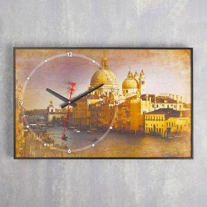 """Часы настенные, серия: Город, """"Собор в Венеции"""", 37х60 см микс 1192866"""