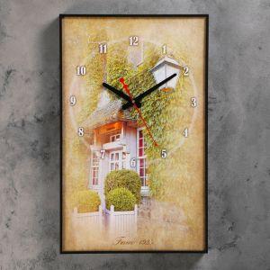 """Часы настенные, серия: Город, """"Французский дворик"""", 37х60 см ( стрелки микс) 1301256"""