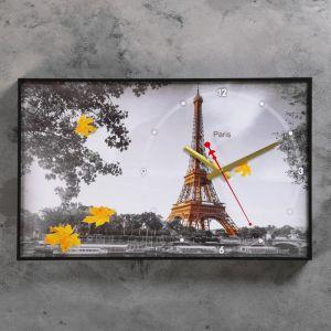 """Часы настенные, серия: Город,""""Осенний париж II"""", 37х60 см 1192858"""