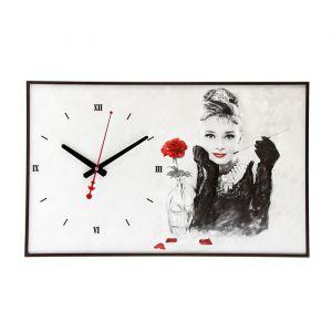 """Часы настенные, серия: Люди, """"Одри Хепберн"""", 37х60 см 1192864"""