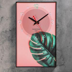 """Часы настенные, серия: Природа, """"Лист папоротника"""", 37х60 см 4812329"""