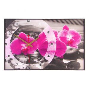 """Часы настенные, серия: Цветы, """"Магия Орхидей"""", 37х60  см, микс 1152322"""