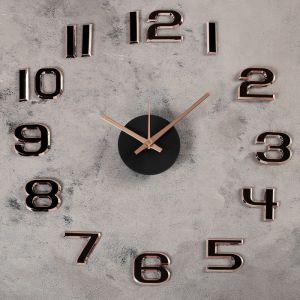 """Часы-наклейка DIY """"Данбери"""", золотистые, 60 см, плавный ход 4432443"""