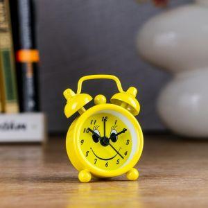"""Будильник """"Смайлик"""", d=4 см, жёлтый 1622235"""