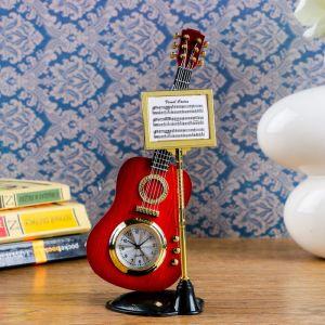 """Часы настольные """"Гитара с пюпитром"""", 19х8 см, микс 837628"""