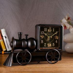 """Часы настольные """"Старый поезд"""", 30х21 см 1390993"""