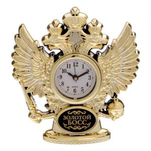 """Часы настольные орел """"Золотой босс"""""""