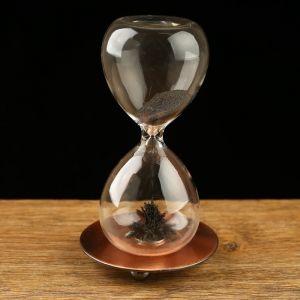 """Часы песочные """"На вес золота"""", магнитный песок, 8х16 см 127164"""