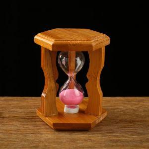 """Часы песочные """"Стебель бамбука"""", 10.5х6.5х6.5 см, микс 2326987"""