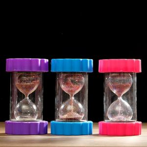 """Часы песочные """"Цветок"""", разноцветные стеклянные шарики, 9х16 см, микс 3572457"""