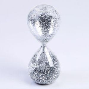 """Часы песочные """"Шанаду"""", сувенирные, 8х8х19 см, песок с серебристыми блёстками   4695256"""