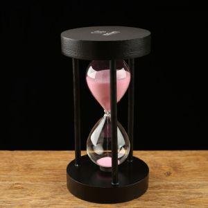 Часы песочные на 15 минут, круглые, микс песка, 10х18 см 2996833